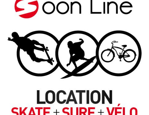 Ecole de Surf-skate Soon Line, Surf Shop, Location Surf et vélo Moliets