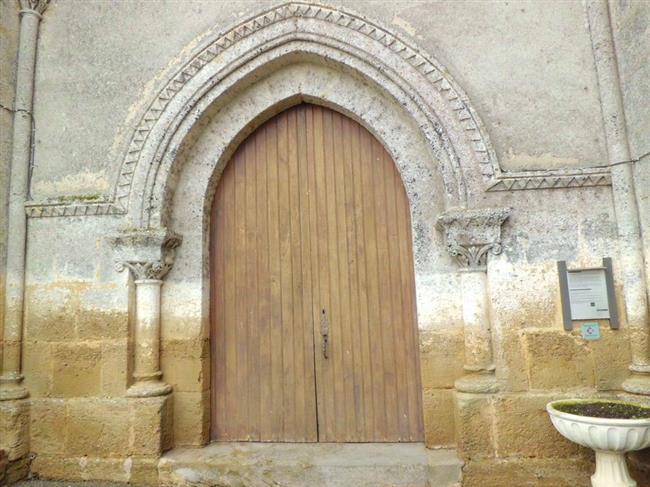 Hontanx - Eglise - Porte