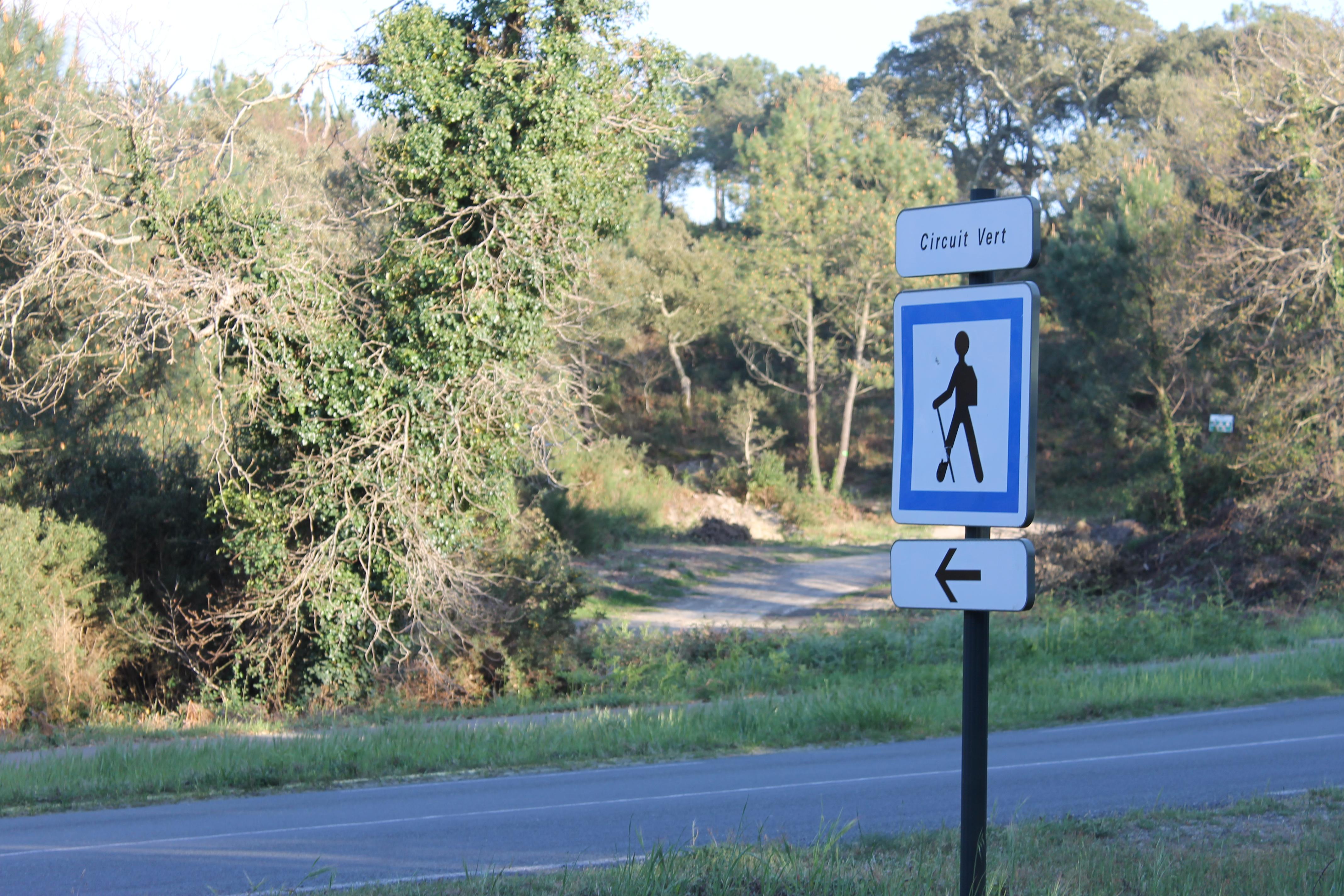 Direction sentier vert